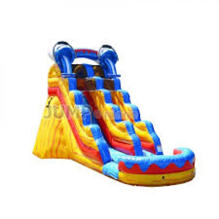 17ft Splash Slide Wet